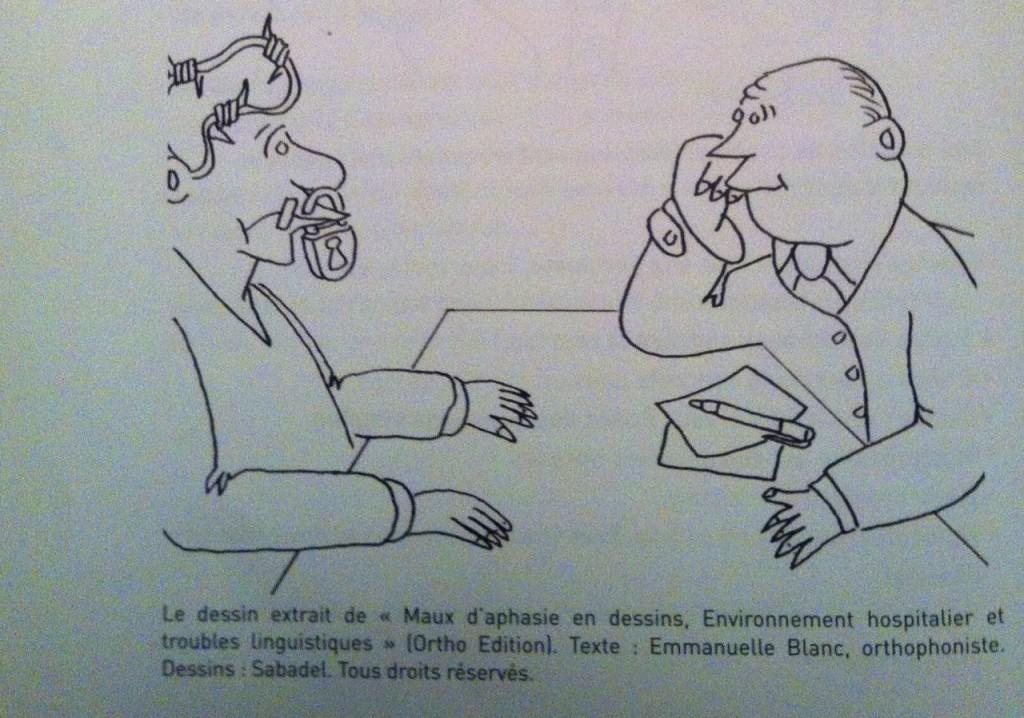 Maux d'aphasie en dessin - Sabadel