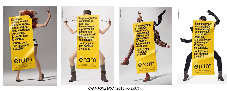 Montage campagne publicitaire Eram 2010 - © Eram