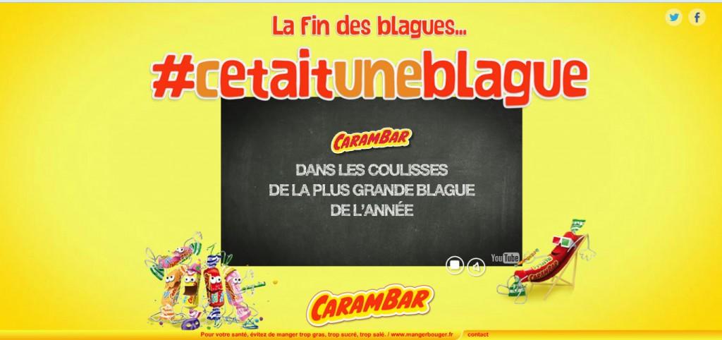 #Flash info : La blague de l'année est attribuée à... Carambar !