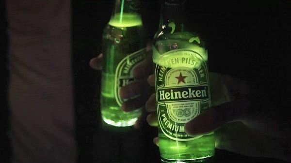 Heineken Ignite, la bouteille interactive & lumineuse © Heineken