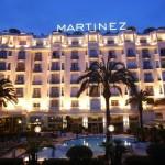 hôtel martinez à cannes de nuit