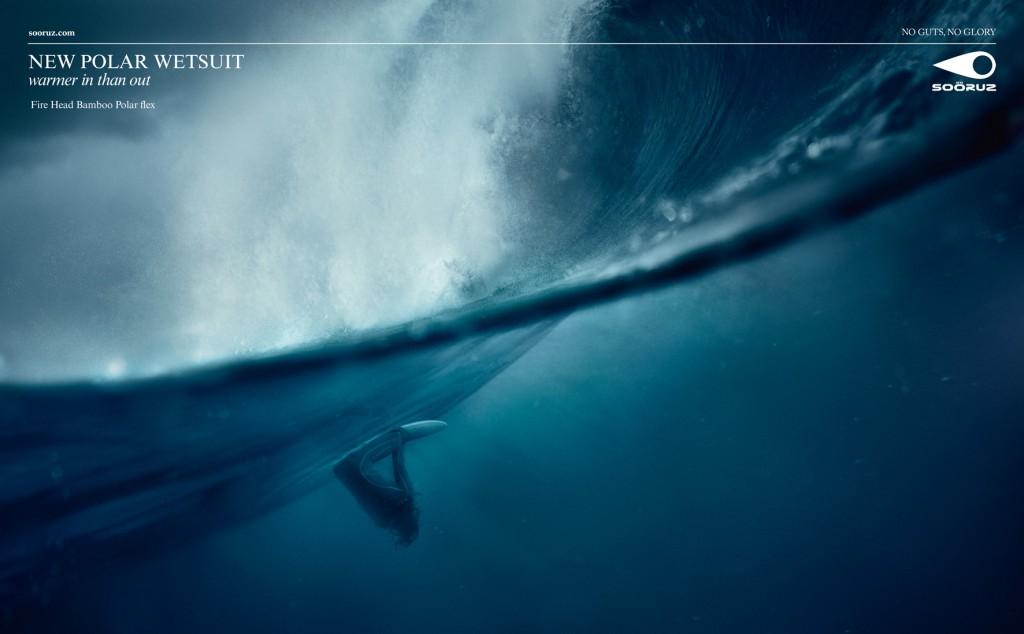 visuel 2 de la campagne print pour la marque de surfwear soöruz réalisée par Publicis Conseil