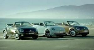 publicité de la series limitees de la nouvelle coccinelle cabriolet de volkswagen