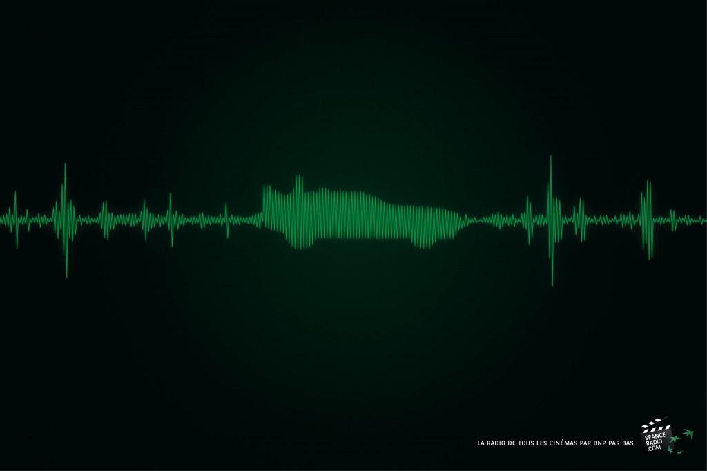 campagne presse pour la nouvelle web radio de bnp paribas baptisée séance radio réalisée par Publicis Conseil