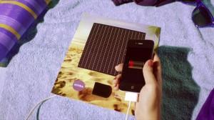 annonce presse nivea au brésil avec chargeur de smartphone solaire intégré