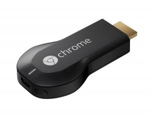Google lance une clé HDMI baptisée Chromecast capable de transférer du contenu multimédia depuis des appareils mobiles