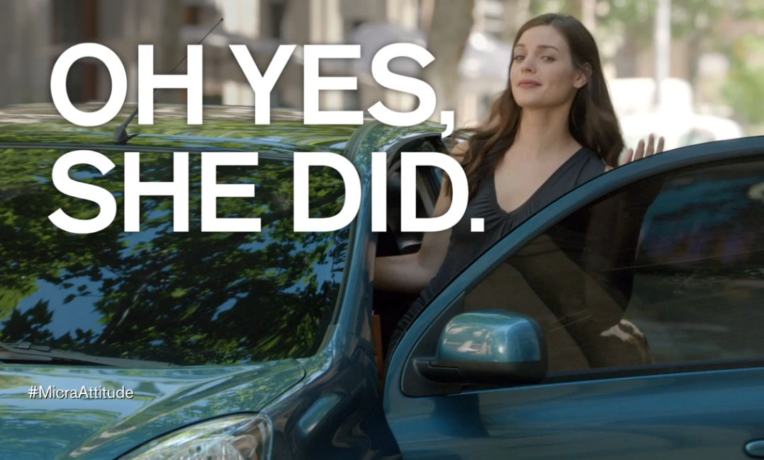 Nissan met la femme en avant dans sa nouvelle campagne publicitaire pour son modèle Micra
