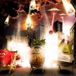 oasis rebondit sur l'actualité en postant une photo de fruits caricaturant la supposée fin du monde du 21 décembre 2012