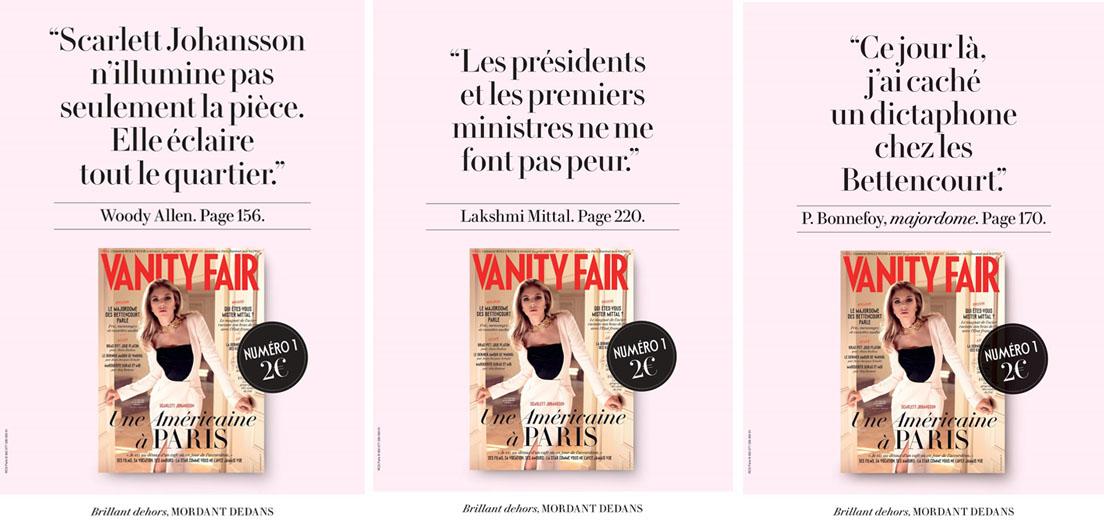 Après une campagne presse de lancement, le magazine Vanity Fair lance un spot TV décalé et anti-conventionnel
