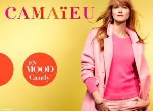 Pour sa première campagne publicitaire, Camaïeu lance des visuels fun flashy et girly mettant en avant les différents looks que l'on peut trouver dans ses magasins