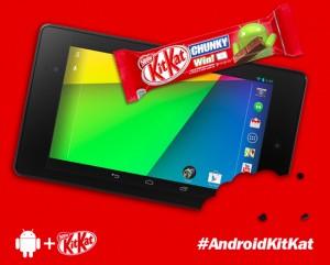 A l'occasion de la sortie du système d'exploitation android kit-kat, les deux marques ont lancé un défi aux passant hollandais