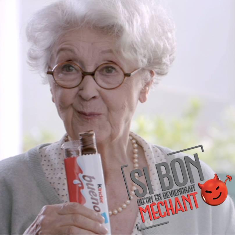 kinder bueno lance une nouvelle campagne publicitaire avec de nouveaux personnages qui ne partagent plus leur barre chocolatée mais cherche part tout moyen de s'emparer du dernier kinder bueno !