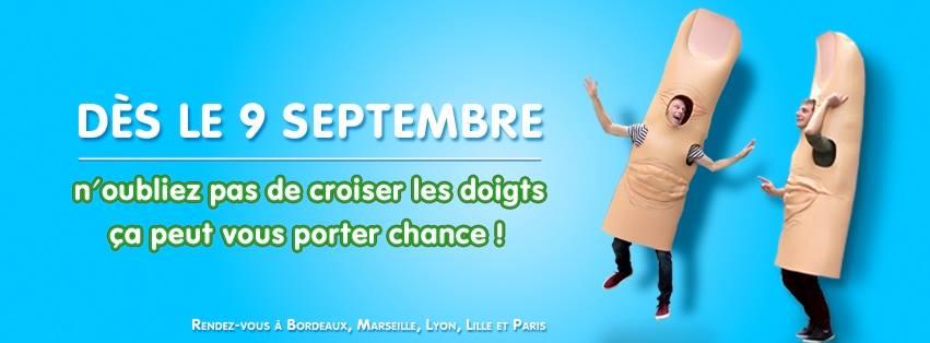 a l'occasion du vendredi 13, la française des jeux a mis en place une campagne de communication nationale mettant en scène la superstition de croiser les doigts...