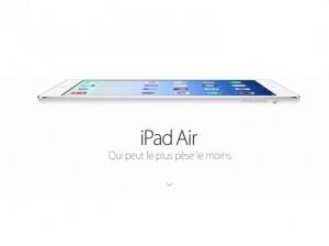 Le nouvel iPad Air d'Apple