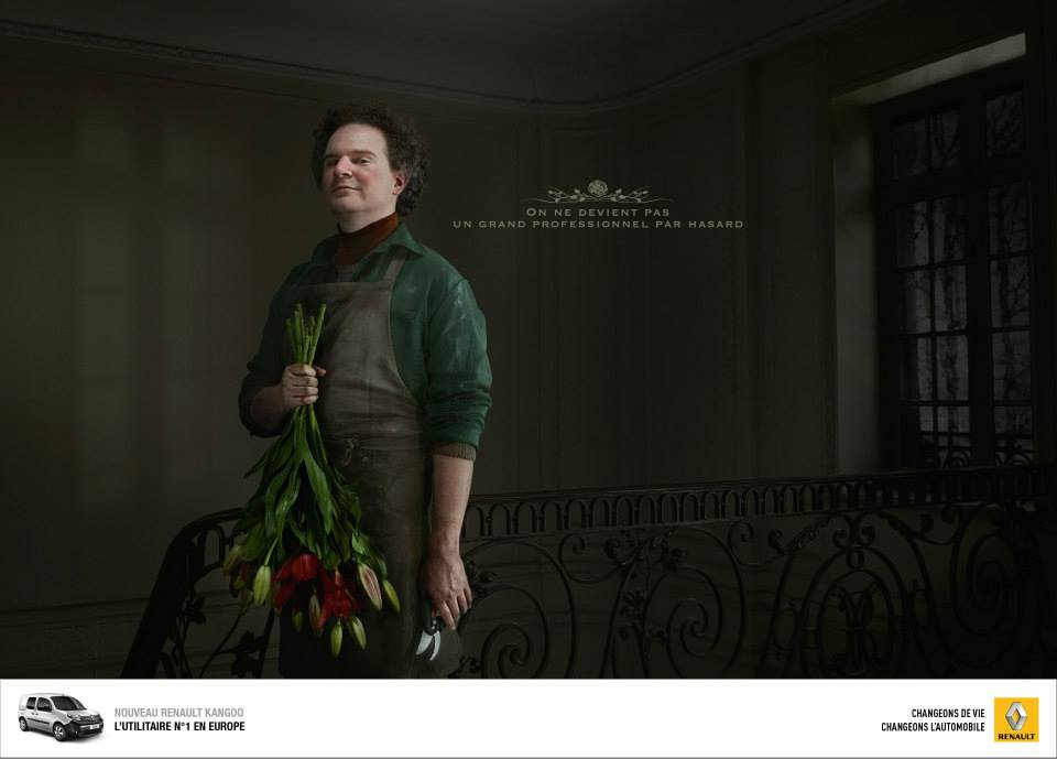 Renault met en avant le métier de fleuriste dans sa nouvelle campagne pour son kangoo