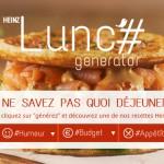 Heinz et l'agence 361 mettent en place le heinz lunch generator pour inspirer nos repas