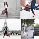 photos des blogueuses effectuant un saut pour la bonne cause avec le sac Tommy Hilfiger