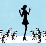 des petits pingouins emmène les visiteurs jusqu'au sunshine aquarium grâce à la réalitée augmentée