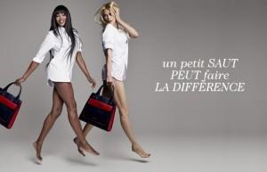 les deux tops Claudia schiffer et Naomi Campbell prennent la pose pour la bonne cause