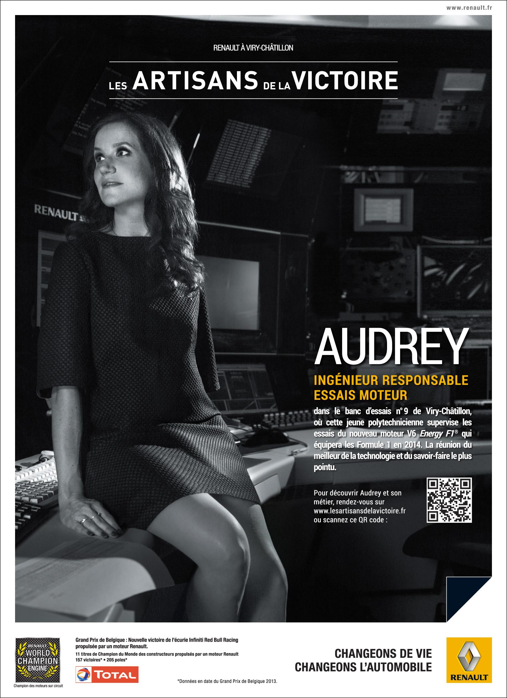 Portrait d'Audrey pour l'opération de Brand Content de Renault