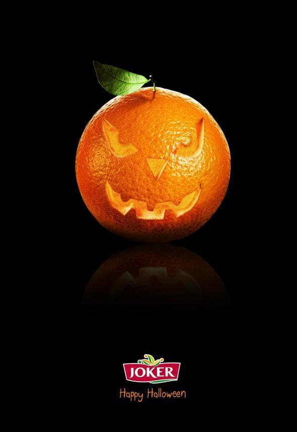 L'Orange de la marque Joker se prend pour une citrouille en ce jour d'halloween