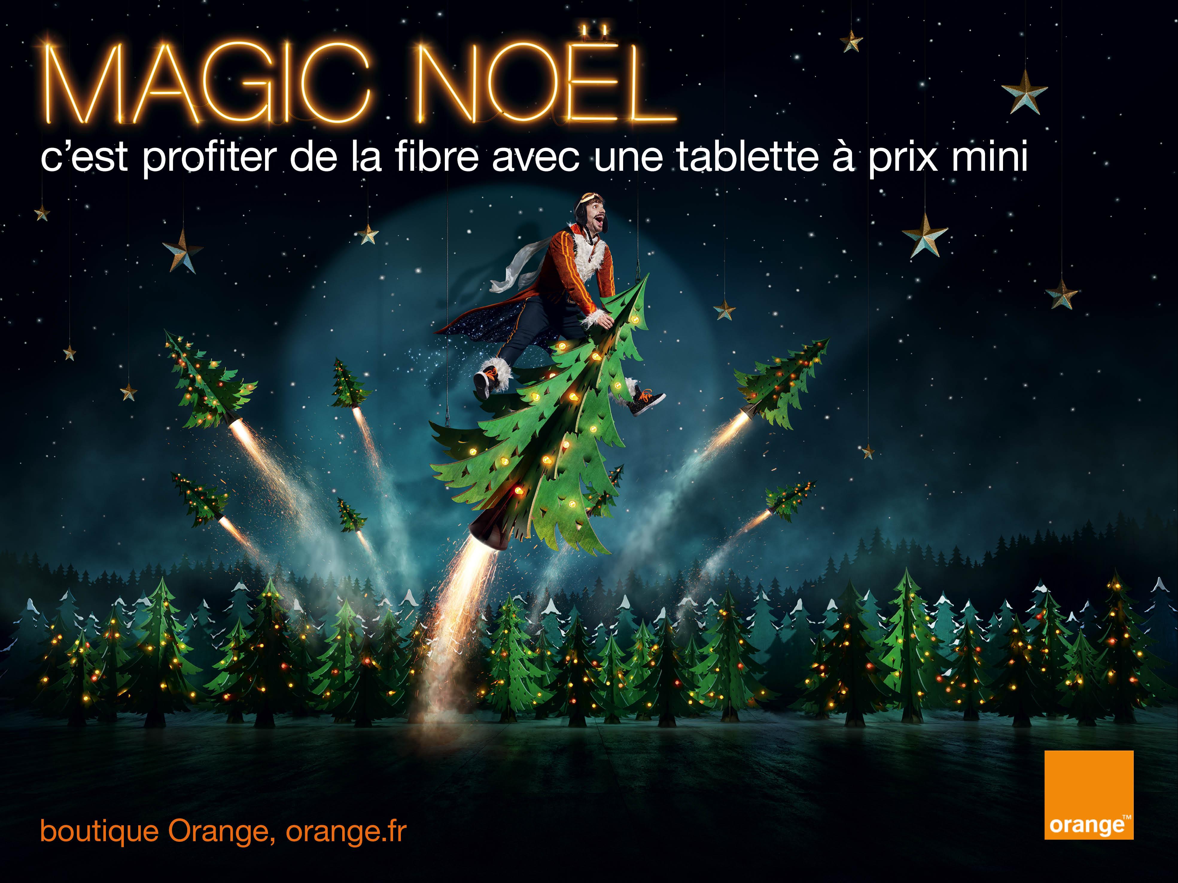 Le personnage m4Gic d'Orange va nous faire passer un Noël haut en couleur