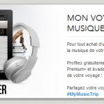 la sncf s'associe à Deeser et offre de l'écoute gratuite demusique pendant le voyage jusqu'à Noël