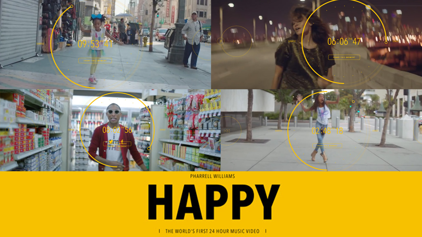 happy le clip de 24h réalisé par we rae from la pour pharell williams