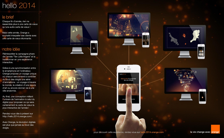 orange souhaite ses voeux 2014 via un voyage sensoriel innovant avec Publicis Conseil