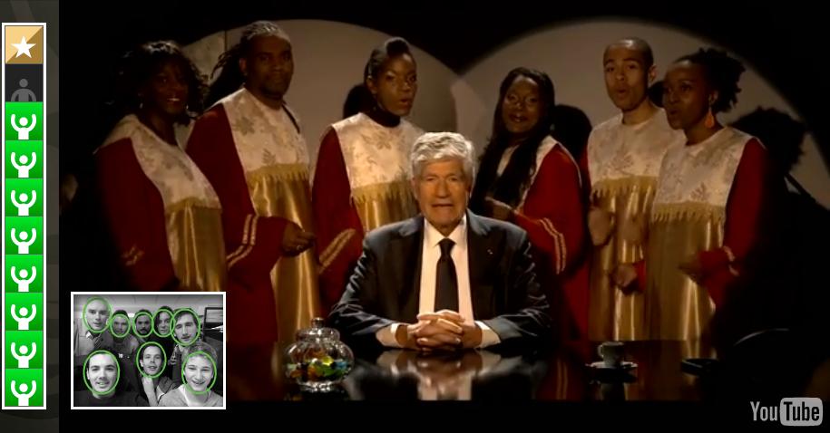 Maurice Lévy entouré de chanteurs gospel  pour les voeux 2014