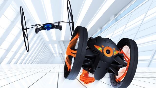 Parrot présente deux gadget high tech au CES de Las Vegas : un mini drone et le jumping sumo