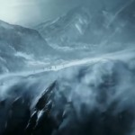 une montagne glacial et impénétrable se dresse devant les athlètes olympiques