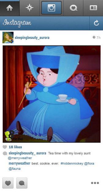 la tante d'Aurore en train de prendre le thé
