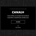 un site web dédié pour les voeux 2014 de canal +