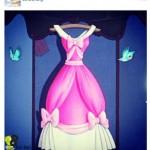 la robe de bal de Cendrillon