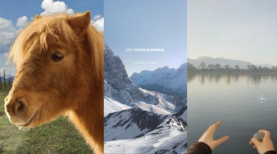 brosser un poney, faire des ricochet ou crier à la montagne c'est ça le bonheur by canal +