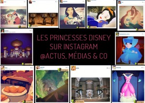 les princesses disney sur instagram