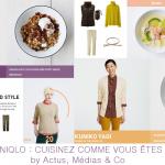 uniqlo lance une application culinaire pour promouvoir sa collection de vêtements !