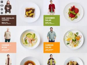 24 recettes conçues et imaginées par 6 chefs cuisiniers aux styles vestimentaires différents
