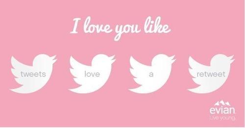 je t'aime comme les tweet aime les retweet