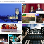 à la fin de l'expérience digitale, les internautes sont invités à découvrir leurs activités sur le Lovewall qui regroupe les centres d'intérêts anglais