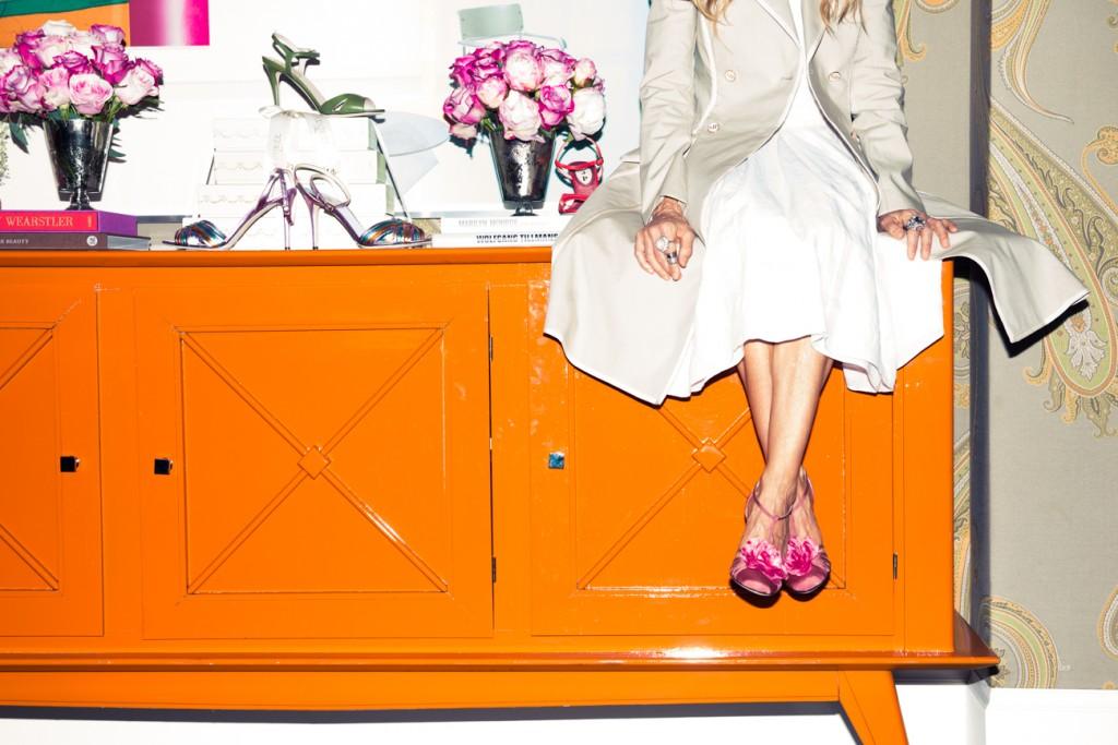 des chaussures à l'images de Carrie Bradshaw, son alter égo dans sex and the city