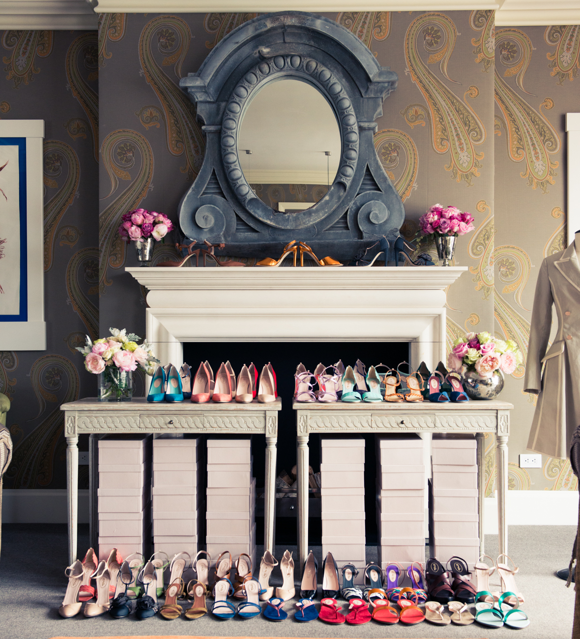 un dressing de rêves avec les chaussures SJP