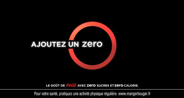ajoutez un zéro avec la nouvelle campagne coca cola zéro