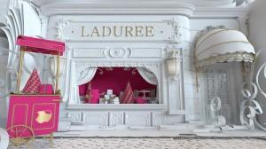 le spot nous transporte dans une décor féérique de la maison Ricci à la maison Ladurée