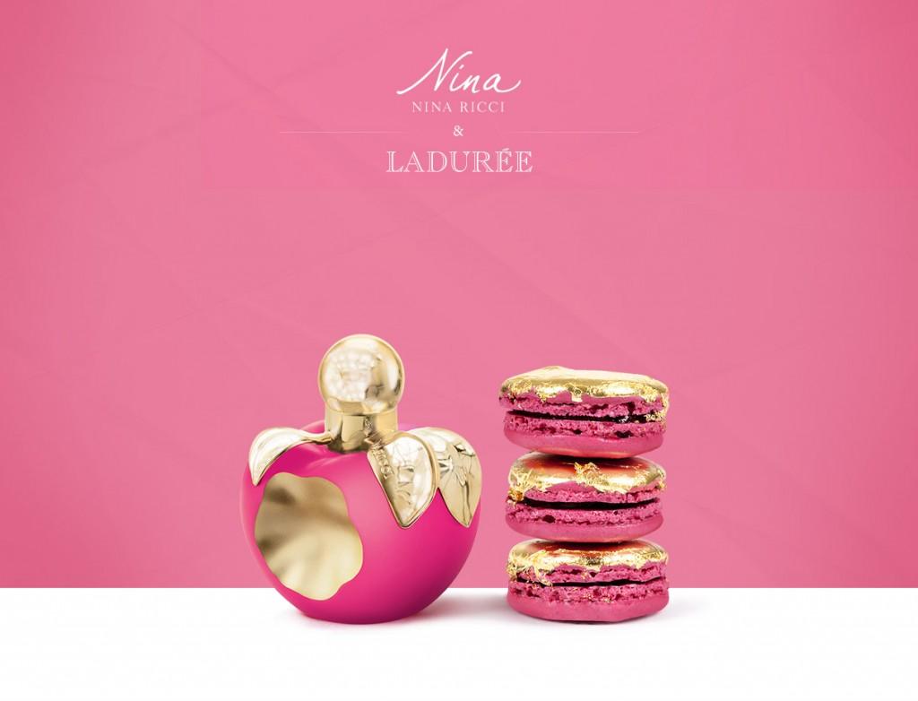 la maison Ladurée et Nina Ricci unissent leur talentet lance un parfum et un macaron en édition limitée
