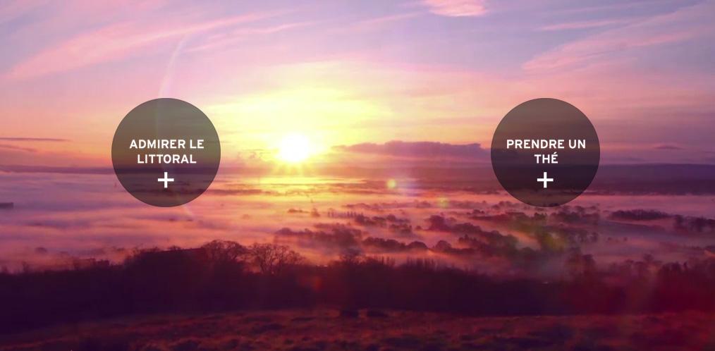 un clip interactif où l'internaute est transporté à chaque clic vers une nouvelle expérience