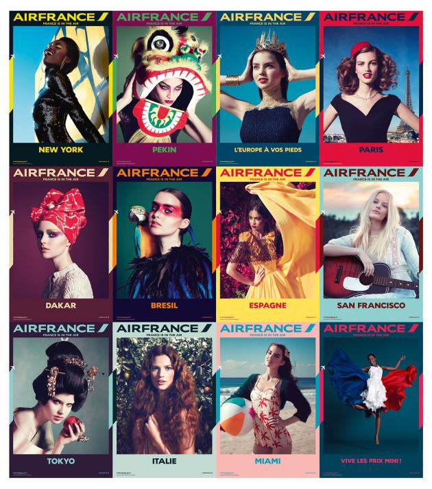 Air France se dote de 18 visuels colorés et glamour pour sa nouvelle campagne