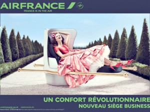 Air france met en avant le confort de ses sièges