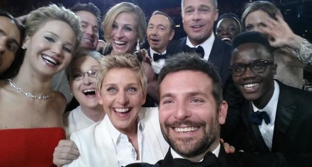 le selfie le plus célèbre de la planète people qui a battu le record de retweet